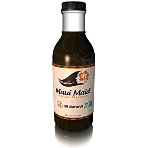Teriyaki Sauce and Marinade - Make Your Perfect Gourmet Recipes for Chicken, Beef, Seafood, Pork, Noodles, Vegetables, Stir Fry, Nori, Jerky, Salmon and Hamburgers - Gluten Free, Low Sodium Meals - Hawaiian BBQ - Your Family's Satisfaction Guaranteed by M