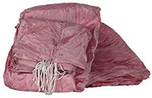 British Surplus Pink 26' Diameter Parachute With Harness And Lines (CUT) by UK Military
