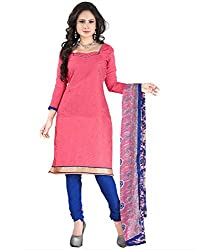 Yehii Latest New Collection Embroidered Pink Chanderi Unstitched Branded Dress Material With Dupatta for Ladies party Wear Low Price Best Seller Offer