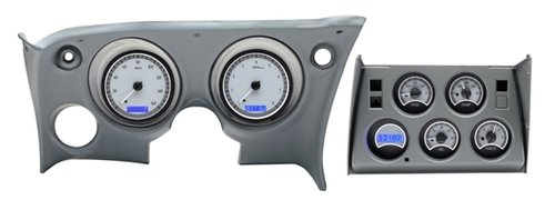 1968-77 Chevy Corvette VHX System, Satin Alloy Style Face, Red Display