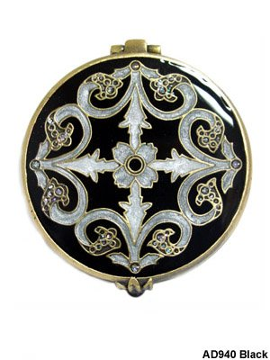 Bejeweled Round Compact Mirror
