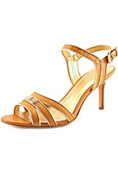 Coach Ethel Womens Open Toe Leather Pumps Heels Shoes