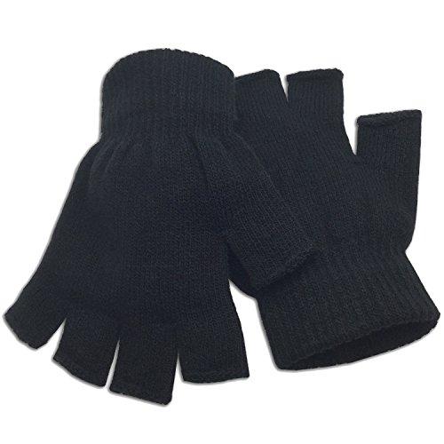 Winter Fingerless Gloves Half Finger Knitted - Standard