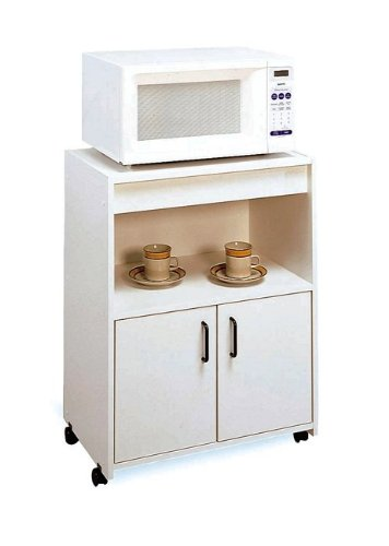 Buy Low Price Kitchen Serving Utility Cart 3 Tier Shelves Rack White W Wheels B003e6p4yo