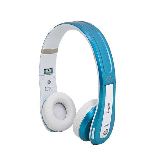 New Miikey Rhythm Pro White/Blue Bluetooth Headphones