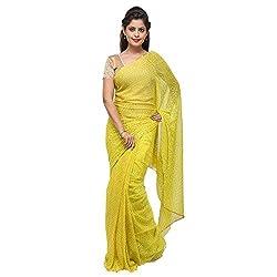 Aradhya Enterprises Women's Chiffon Saree-AE3313_Lemon Yellow