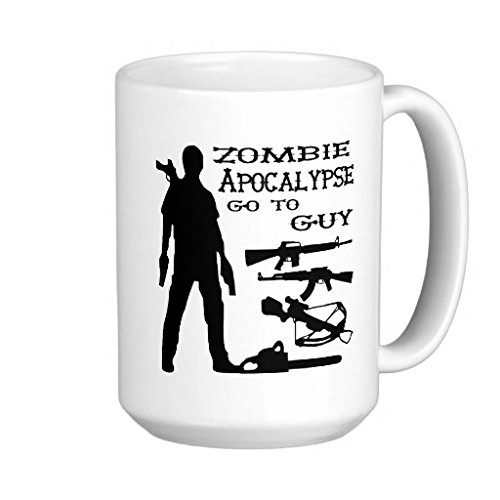Zombie Apocalypse Go To Guy - 11-oz Gun Walking Dead Shooter Hunting Buck NRA Coffee Mug Cup Made of White Ceramic with Large Handle is Perfect Gift Idea for a Rifle or Pistol Loving Dad Grandpa Papa (Nra Cup compare prices)