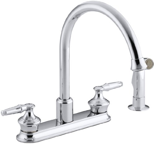 KOHLER K-15889-K-CP Coralais Decorator Kitchen Sink Faucet, Polished Chrome (Handles Not Included)