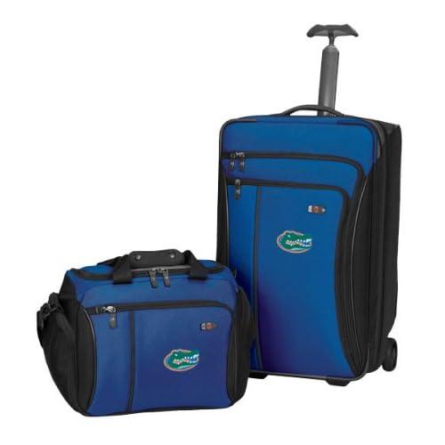 University of Florida Customized Werks Traveler(TM) 3.0 2 Piece Luggage Set   Black/Black Gator   College Travel Bags