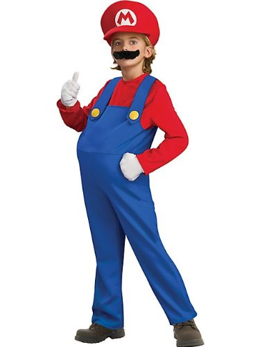 Rubies Costume Co R883655-M Child Deluxe Super Mario Bros Mario Costume Size Medium