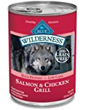Blue Buffalo Wilderness Grain Free Canned Dog Food, Salmon Recipe (Pack of 12 12.5-Ounce Cans)