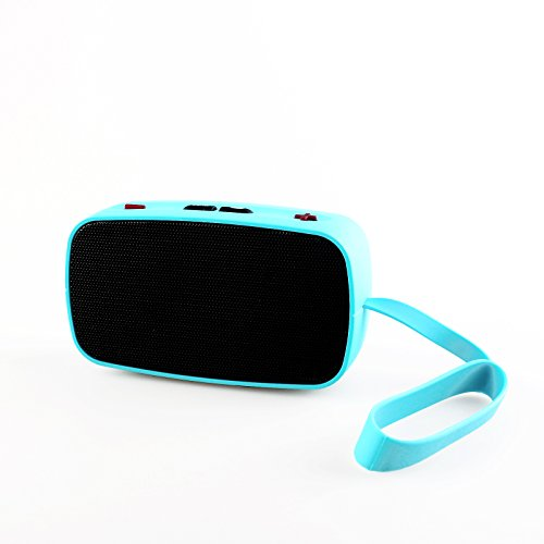 Wireless Rechargeable Bluetooth 3.0 Speaker with 3.5mm Headphone/Audio Jack for Apple iPhone, iPad, iPod, Samsung, HTC, Tablet, smart phone-color blue pickogen he 077 uv fisheye macro wide angle camera lens with led for iphone samsung pink
