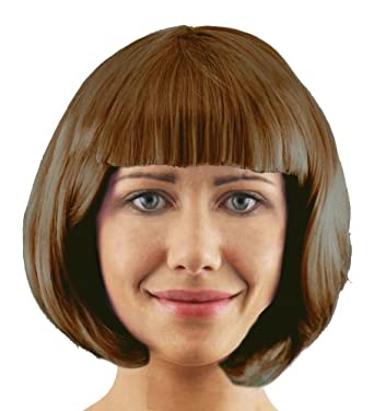 BOB WIG FANCY DRESS ACCESSORY LADIES 20'S FLAPPER PARTY HAIR SEXY COSPLAY SHORT WIG IN MANY COLOURS (BROWN)