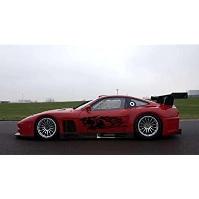Horse Fire Angry Flame Custom Wrap CAR Vinyl Side Graphics Decals Any