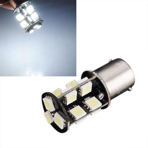 Sodial(R) 1156 382 Ba15S P21W White 19 Led Smd Canbus Error Free Turn Signal Light Bulb