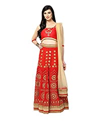 Yepme Hailly Lehenga Choli Set - Red -- YPMLEHG0082_Free Size