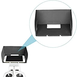 Neewer® DJI Inspire 1/Phantom 3 Remote Controller Monitor Hood for Smartphones, Compatible with iPhone 6 plus/6/5/5S/4/4, Samsung Galaxy S6 Edge/S6/S5/S4/S3/A7/A5, Galaxy Note 4/3/2