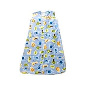 HALO SleepSack Micro Fleece Wearable Blankets, Blue Safari Print, Small