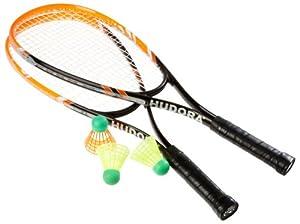 Hudora Speed-Badmintonset HS-22, 2 Schläger, 3 Bälle