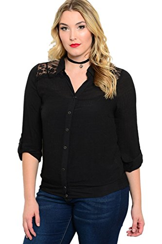 2luv-plus-womens-plus-size-lightweight-shirt-with-sheer-paneling-black-2xl-t7037x