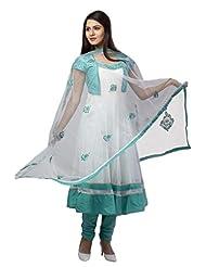 Salwar Studio Off White Net Designer Salwar Suit SS2897