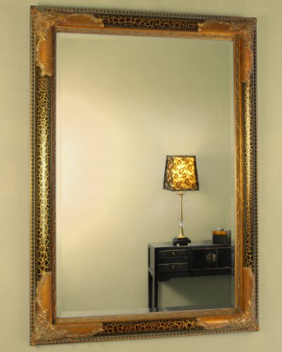 Black Gilt Ornate Mirror
