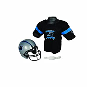 Franklin Sports NFL Carolina Panthers Replica Youth Helmet and Jersey Set