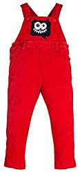 Oye Boys Full Length Dungaree - Red (2-3Y)