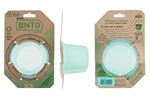 BNTO by Cuppow - Canning Jar Lunchbox Adaptor - Wide Mouth - 6oz - Mint Green by Cuppow