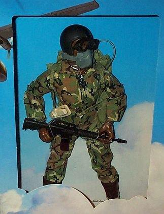 "Gi Joe U.S. Airborne Ranger 12"" Action Figure (African American Version)"