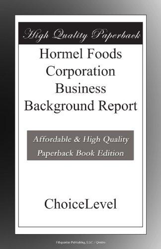 hormel-foods-corporation-business-background-report