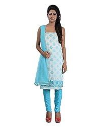Mumtaz Sons Women's Cotton Unstitched Dress Material (MS111456D,Ferozi)