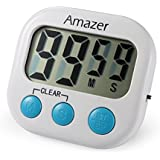 [#1 BEST RATED TIMER] AMAZER Digital Kitchen Timer, Digital Lound Timer with Large Screen Magnet for Kitchen Cooking Baking Sports Games Office, Includes 1 AAA Battery