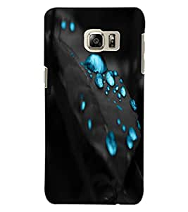 ColourCraft Beautiful Water Drops Design Back Case Cover for SAMSUNG GALAXY NOTE 5 EDGE