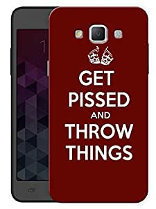 """Humor Gang Get Pissed And Throw Things Printed Designer Mobile Back Cover For """"Samsung Galaxy A5"""" (3D, Matte, Premium Quality Snap On Case)"""