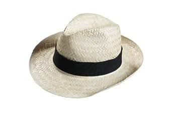 Lot de 10 chapeaux de paille unisexe S (tour de tête 55 cm) (Lot n°57) avec bande noir amovible