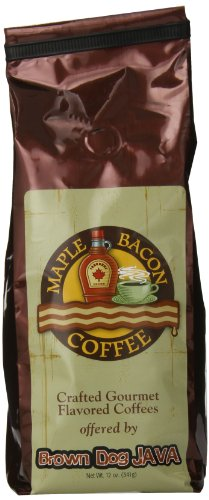 Brown Dog Java Ground Coffee, Maple Bacon, 12 Ounce