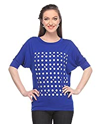 Wearsense Women's Top (Blue, Medium)