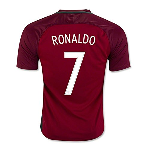 2016 2017 Portugal 7 Cristiano Ronaldo Home Football Soccer Jersey In Red (Cristiano Ronaldo Number And Name compare prices)