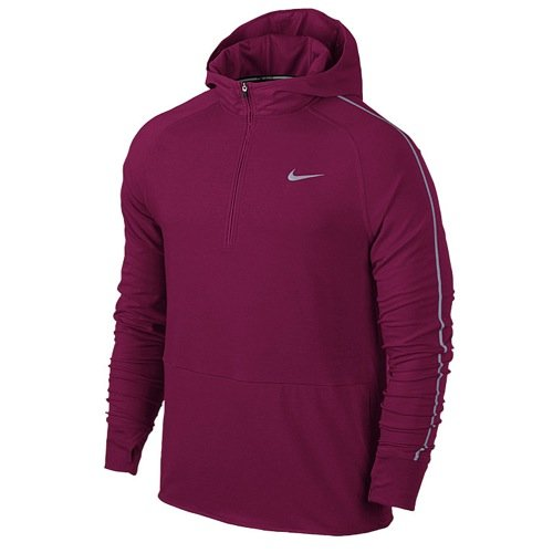 Nike Men's Dri-Fit Sprint Half Zip Running Hoodie-Red-Small