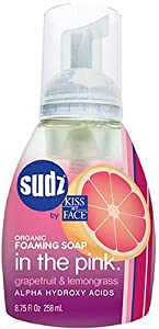 Sudz by Kiss My Face Organic Foaming Soap, In the Pink, Grapefruit & Lemongrass, 8.75-Ounce Pumps (Pack of 3)