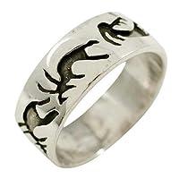 Kokopelli Etch - Sterling Silver Ring