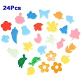 TOOGOO(R) 24pcs Colorful Different Shapes Kids Children Crafting Painting Sponge DIY Stamp