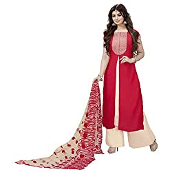 Siddh Creation Straight Gown Red Embroidered suit