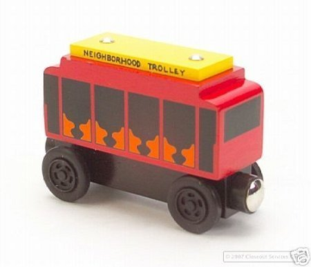 Wooden Neighborhood Toy Trolley Limited Edition