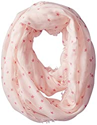 Jules Smith Women's Star Printed Lightweight Infinity Scarf, Light Pink/Fuchsia, One Size