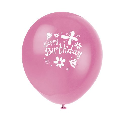 "Cute Birthday Party 12"" Balloons"