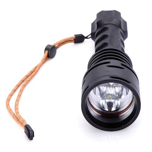 Trustfire Tr-Df003 3000Lm Led Diving Flashlight Lamp 3*Cree Xm-L T6 5-Mode 100M Swimming Diver Scuba Lamp With Multifunctional Charger Black