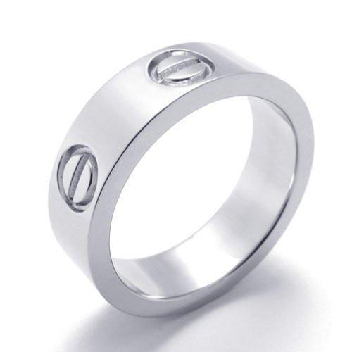 (キチシュウ)Aooazジュエリー ユニセックスステンレスリング指輪 ファッションスムーズシンプルデザイン シルバー 高品質のアクセサリー 日本サイズ11号(USサイズ6号)