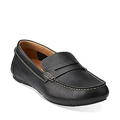 Amazon.com: Clarks Marcos Drive Mens Black Leather Loafer 7.5-MEDIUM